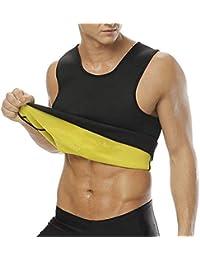 NOVECASA Chaleco Sauna Hombre Neopreno Camiseta sin Mangas Sudoración Tank Top Body Shaper Transpirar Gimnasia Abdome