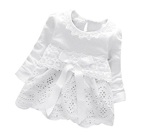 chen Kleider Prinzessin Kleider Dresses (S(0-6 Monate), Weiß) (Prinzessin Kleid Für Babys)