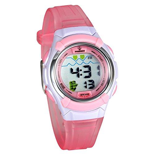 Lancardo Reloj Electrónico con Dibujo Animado Panda Encantadora Resistente  al Agua de 30M Pulsera Digital Multifuncional 250dee05e29a