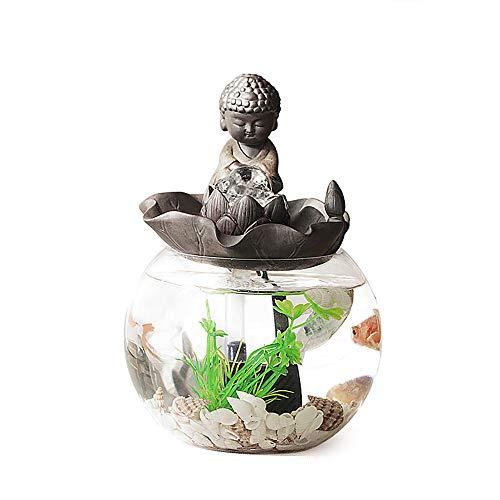 REWQ Mini Aquarium, Home Kreative Finanzen Rolling Years Jedes Jahr Fisch Büro Kleine Dekorationen Desktop Eröffnung Tee Spielen Wasser Aquarium-boccaroware