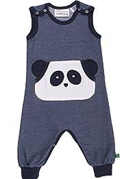 Fred's World by Green Cotton Panda Denim Romper, Mono para Bebés