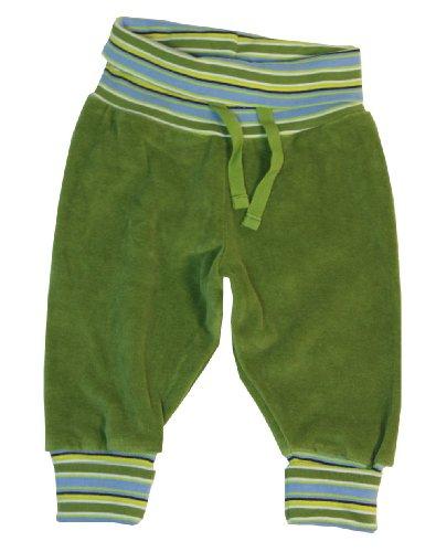 Leela Cotton Baby Hose aus 100% Bio-Baumwolle Nicky (86/92, Gruen)