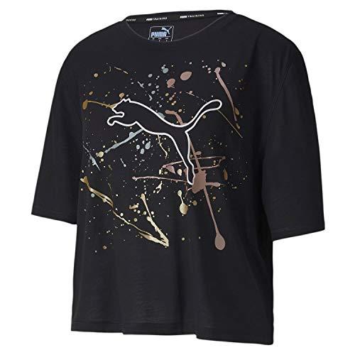 PUMA Damen Metal Splash Graphic Tee T-Shirt, Black, M