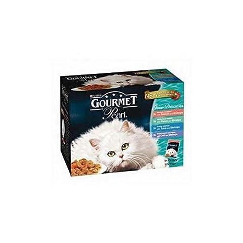 Gourmet Perle Pâtée chats adultes–Océan Délices 85g 12Pack (1.02kg) (Lot de 4)