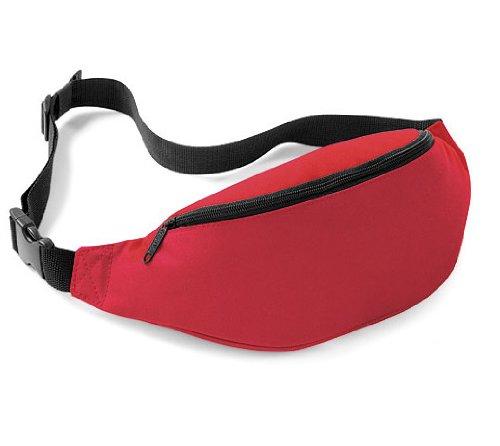 Bagbase-Cintura/marsupio, Unisex bambini, Rosso classico