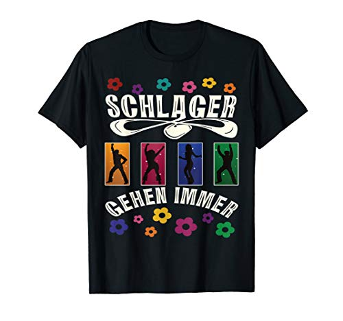 Retro Schlager Kostüm das Outfit zur Schlagerparty  T-Shirt -