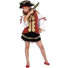 Atosa - Disfraz de pirata para niña, talla M, 5-6 años (111-6365)