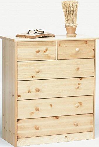 Erst-Holz® Kommode Sideboard Anrichte Kiefer Natur 2+4 Schubladen 90.50-13 -
