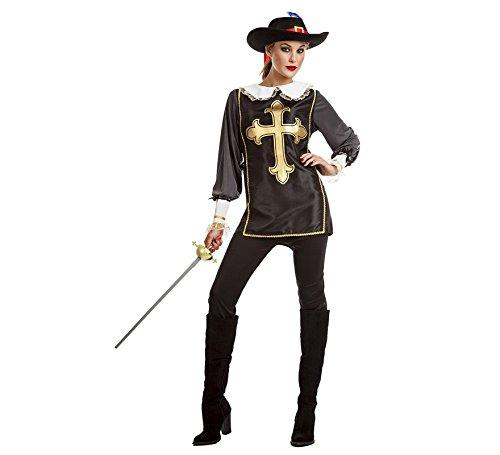 Disfraz de Mosquetera Negro para mujer