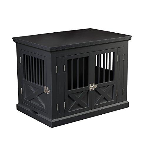 Holz Furnier Mdf (zoovilla pth0692021710Triple Tür Hundekäfig, Medium, Schwarz)