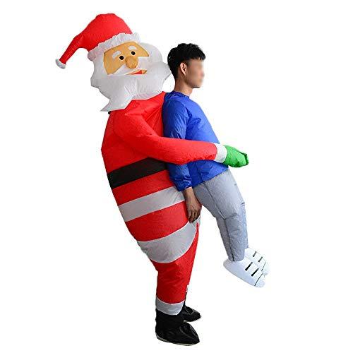 Aufblasbare T Rex Kostüm Santa - KANGJIABAOBAO Mens Halloween Kostüme Santa