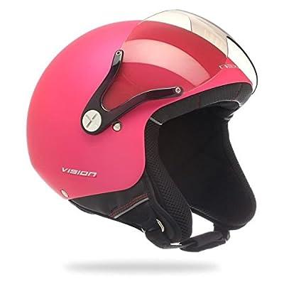 NEXX X60 Vision plus - Casque Jet scooter/moto rose