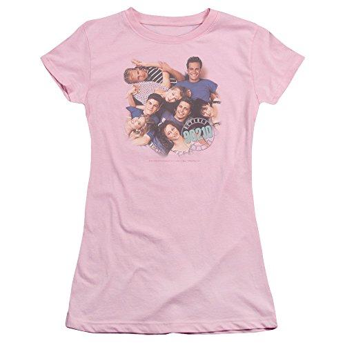 Cbs - Beverly Hills 90210 / Gang In jungen Frauen Logo T-Shirt in Pink, Large, Pink (Beverly Hills 90210-shirt)