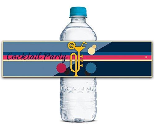 Personalisierte Wasserflasche Etiketten Selbstklebende wasserdichte Benutzerdefinierte Cocktail Aufkleber 8