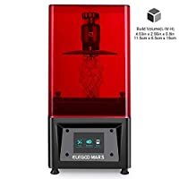 "ELEGOO MARS UV Photocuring LCD 3D Printer with 3.5"" Smart Touch Color Screen Off-line Print 4.53""(L) x 2.56""(W) x 5.9""(H) Printing Size-Black"