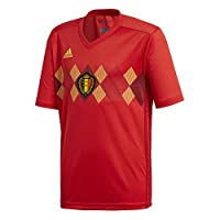 Official 2018 2019 Belgium Kids Home Shirt available to buy online. This is the new junior football shirt of the Belgian National Team for 2018 World Cup Finals.The new Belgium kids football kit is manufactured by Adidas and is available to buy in ju...
