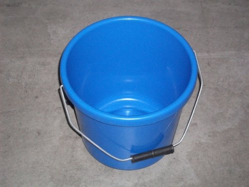 Stadium Secchio per mangime dei vitelli, da 5 l, colore: blu