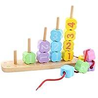 KangRuiZhe Montessori Learning Early Development Baby Threading Toy Big block digital Travel Game Educational Toys for Toddlers Kids