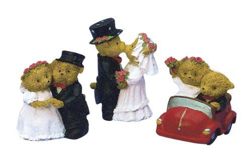 Rayher Hobby Déco Mariage Ours avec voiture, 5 cm, 3 variétés