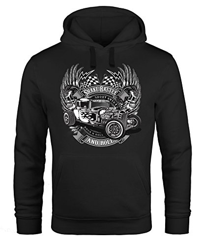 illy Hot Rod Rock n Roll Auto Kapuzen-Pullover Neverless® schwarz XXL ()