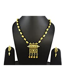 Tripti Golden Tabeez With Divine Buddha Chain Necklace With Earrings