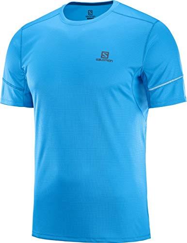 Salomon Agile SS tee T-Shirt, Hombre, Azul (Blithe), XXL
