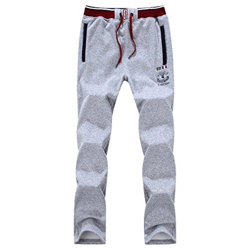 WTUS – Pantaloni – Di tuta – Sportivi – Tinta unita – Tasche – Da uomo grigio2