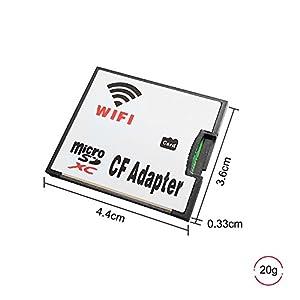QUMOX Micro SD Card TF a Wifi CF CompactFlash Memoria Carta Adattatore per fotocamera DSLR
