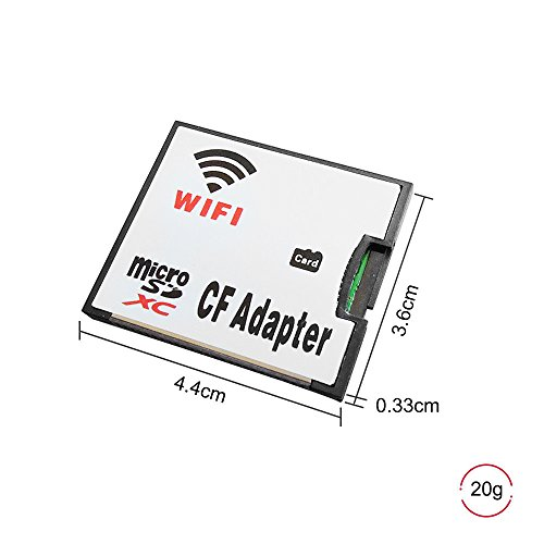 QUMOX MicroSD Karte TF zu Wifi CF CompactFlash Speicherkartenadapter für DSLR Kamera -