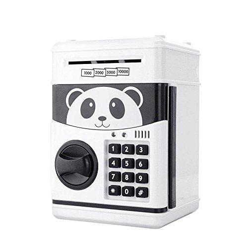 uctop Store Cartoon Piggy Bank Cash Medaille kann Passwort Elektronische Spardose Sicher, Spardose ATM Bank Sicher Schlösser Panda Smart Sprachansagen Geld Piggy Box für Kinder Geburtstag Geschenk (Atm-geld-box)