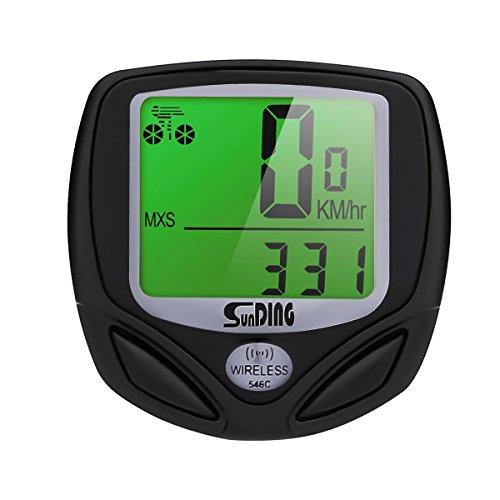 HIYOUNG Fahrradcomputer Kabellos, 16 Funktionen Wasserdichte LCD Geschwindigkeit Fahrradtacho Radcomputer Tacho für Ttracking Geschwindigkeit und Distanz