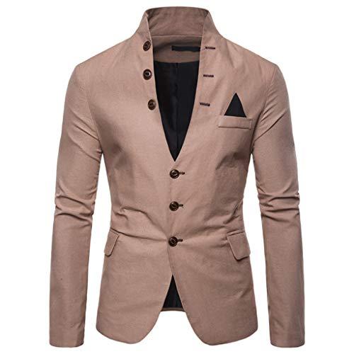 LOLIANNI Art und Weisemänner beiläufiger Normallack-Mantel-männliche Lange Hülsen-Jacken-Standplatz-Ansatz Outwear (Rockstar Drink Energy Hoodies)