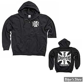 West Coast Choppers - Sweat shirt WCC original à zip et a capuche - Couleur: Noir - Taille: XL