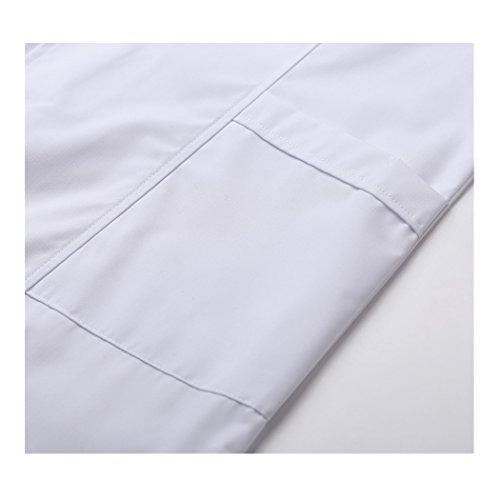 Kurzarm lange abschnitt weiß kittel ärzte krankenschwestern bekleidung arbeitskleidung arbeit (damen, M) - 5