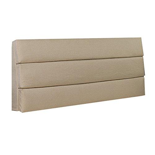 ZHPBHD Sofakissen Nachtkissen - Schwamm aus massivem Holz, große Rückenlehne Stoff waschbar, beige (mehrere Größen verfügbar) (Color : 1, Size : 150×60×6cm) -