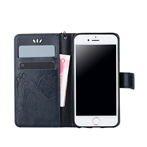 iPhone 5S Coque, iPhone SE Coque, Lifeturt [ Blanc ] Leather Case Wallet Flip Protective Cover Protector, Etui de Protection PU Cuir Portefeuille Coque Housse Case Cover Coquille Couverture avec Fonct E02-Marine23