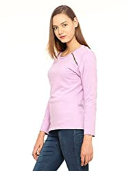 Vvoguish Purple Side Zipper Sweatshirt-VVSWTSHRT983PPL-M