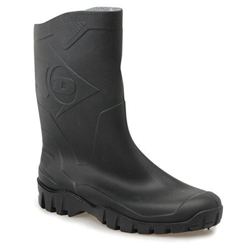Dunlop Herren Gummistiefel Welly Wellies Wellington Stiefeletten Regenstiefel Schwarz 11 (45) (Spitze Wellies)