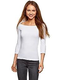 oodji Ultra Mujer Camiseta con Hombros Abiertos (Pack de 2) sin Etiqueta