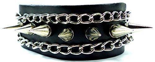 Preisvergleich Produktbild Armband Herren Damen Nieten Armbaender schwarz Edelstahl Killer Nieten und Kette Bracelet BLACK Chain Killer Planks 3656