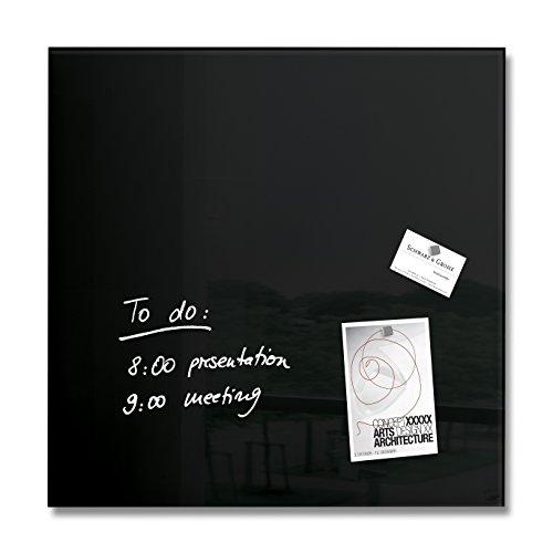 Sigel GL110 Glas-Magnetboard 48 x 48 cm schwarz / Magnettafel artverum - weitere Farben