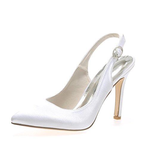 Zapatos De La Boda De Las Mujeres CóModo / Tacones altos / Vestido De Noche De La Boda Y Del SatéN 0608-20 Yardas Grandes , Blanco , 39