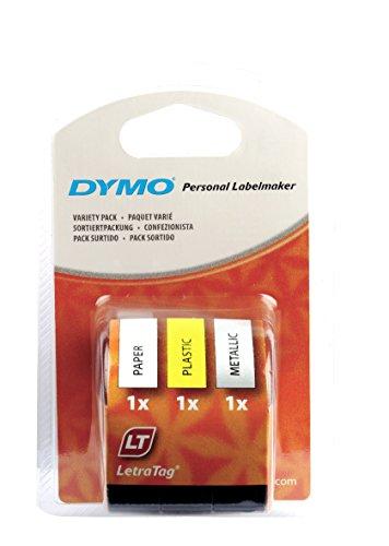 dymo-s0721800-lt-starter-tape-12-mm-4-meter-rolle-schwarzer-druck-auf-gelb-silber-weiss-papier-plast