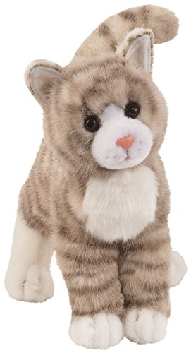 Cuddle Toys 1866 30 cm Long Zipper Grey Tabby Cat Plush Toy