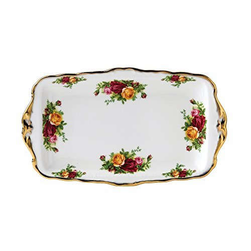 Rose Sandwich Tray (Royal Albert Old Country Roses 11-3/4-inch Sandwich Tray by Royal Albert)