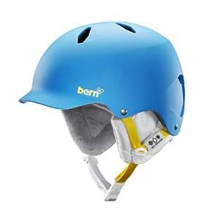 Bern Girl's Bandita EPS Satin with White Liner Helmet - Blue, Medium/Large