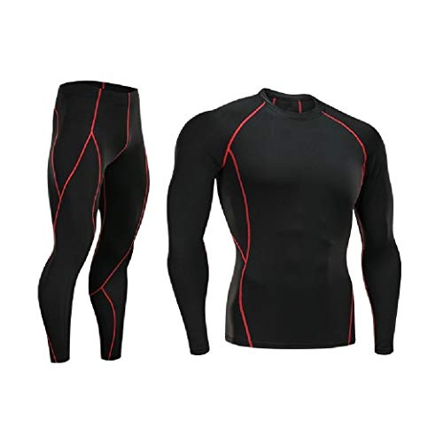 CuteRose Men Quick Drying Jammer Athletic Fit Long-Sleeve Base Layer Underwear Red M - Juicy Couture Velour