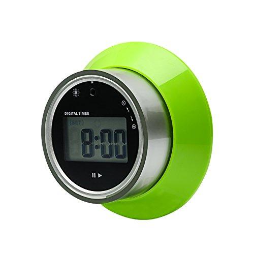 Timer da cucina digitale, rotazione elettronica timer disco modello minuto secondo Count Up Countdown ampio Display LCD allarme Timer di cottura (Verde) - Rotazione Disco