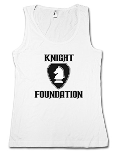 WHITE KNIGHT FOUNDATION LOGO DONNA TOP - Supercar TV Rider Serie Kult hasselhoff K.I.T.T. K 2000 Taglie S - XL
