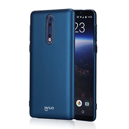 28ba0732b08 Lenuo - Funda Compatible con Nokia 8, Carcasa Trasera rígida [Ultra-Fina]